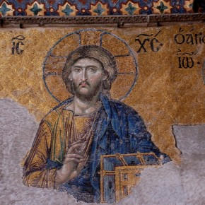 Mosaic of Christ from Hagia Sophia