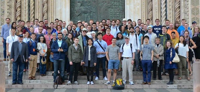 ISM students and faculty outside of the Orvieto Cathedral on the 2014 Study Tour to Italy. Photo by Melanie Ross.