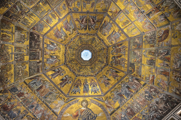 The mosaic ceiling of the Florence baptistry