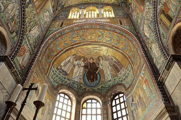 Detail from the interior of the San Vitale complex in Ravenna.